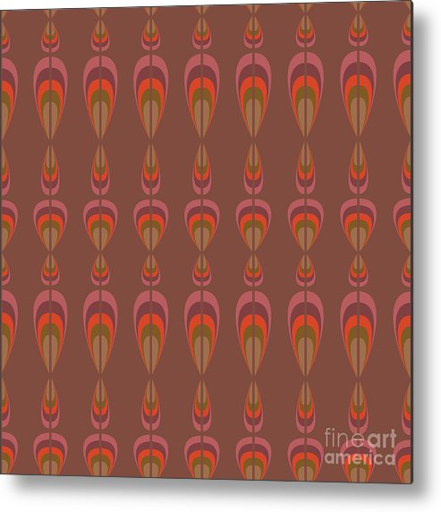 Upholstery Metal Print featuring the digital art Seamless Geometric Vintage Wallpaper by Leszek Glasner