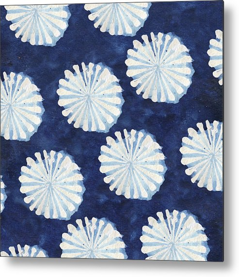 Shibori Metal Print featuring the digital art Shibori IIi by Elizabeth Medley