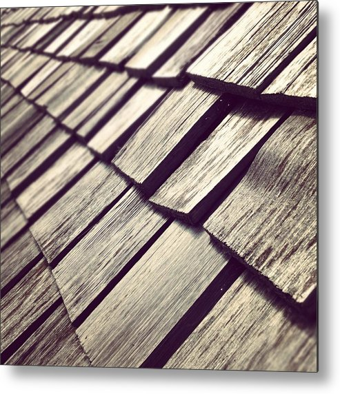 Architecture Metal Print featuring the photograph Shingles by Christy Beckwith