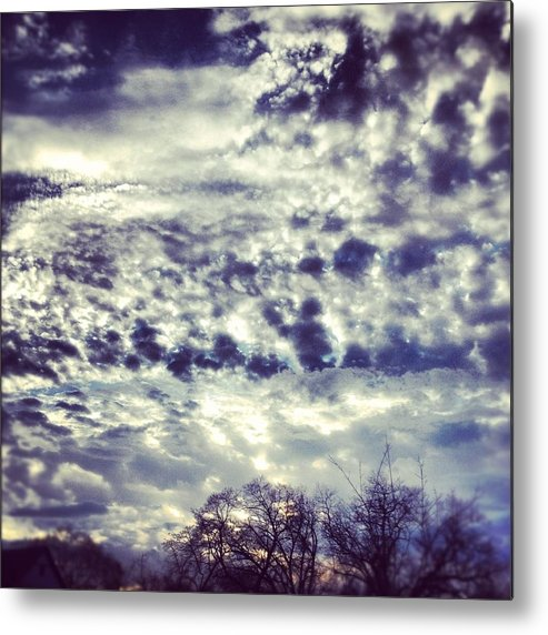 Clouds Metal Print featuring the photograph Sky by Christy Beckwith