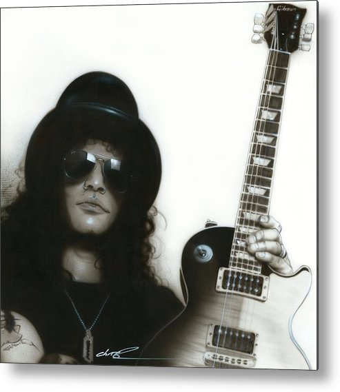 Slash Metal Print featuring the painting Slash by Christian Chapman Art