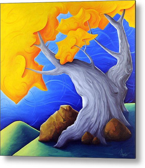 Landscape Metal Print featuring the painting Soaring Dreams by Richard Hoedl