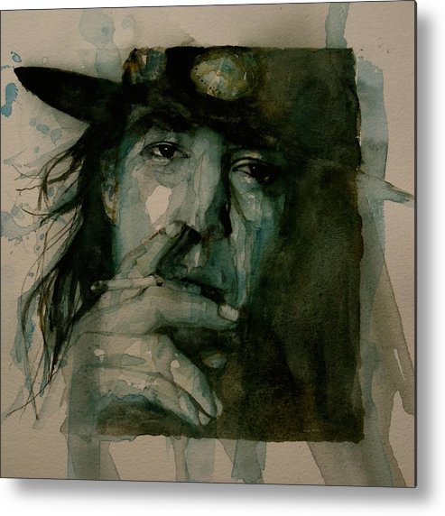 Stevie Ray Vaughan Metal Print featuring the painting Stevie Ray Vaughan by Paul Lovering