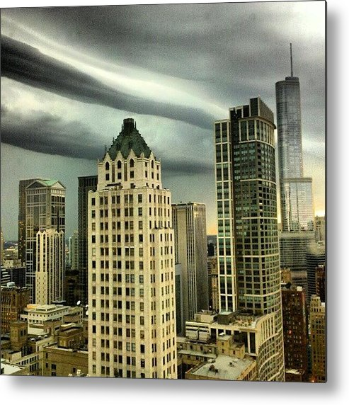 Metal Print featuring the photograph Storm Front by Jill Tuinier
