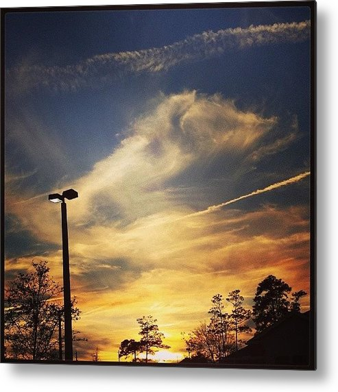 Nature Metal Print featuring the photograph #sunset #gorg #nature by Colleen Morrison