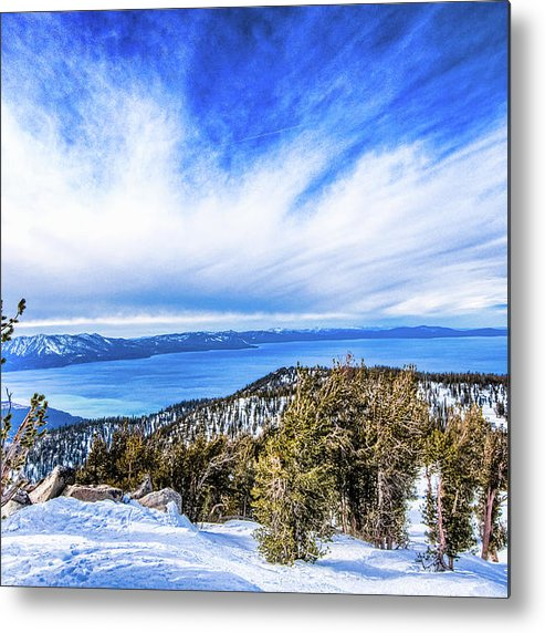Scenics Metal Print featuring the photograph Tahoe From Heavenly by Peter Stasiewicz