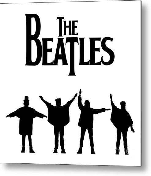 Artwork Metal Print featuring the digital art The Beatles No.06 by Geek N Rock