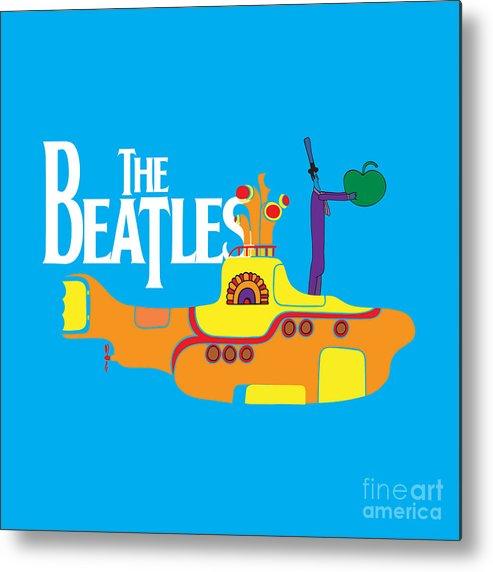 Artwork Metal Print featuring the digital art The Beatles No.11 by Geek N Rock