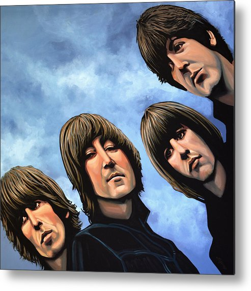 The Beatles Metal Print featuring the painting The Beatles Rubber Soul by Paul Meijering