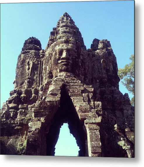 Arch Metal Print featuring the photograph The City Gates At Angkor by Lasse Kristensen