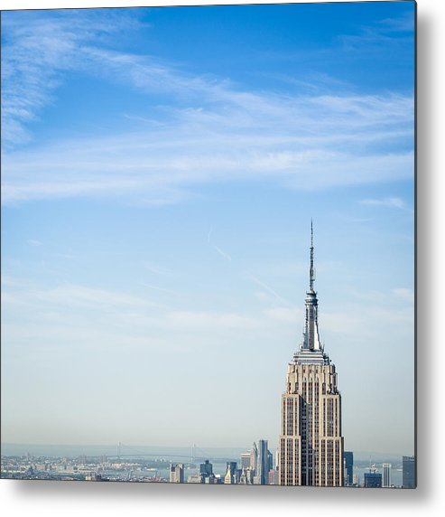 Lower Manhattan Metal Print featuring the photograph The New York City Empire State Building by Franckreporter