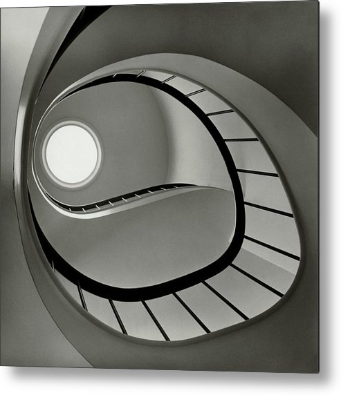 San Francisco Metal Print featuring the photograph The Staircase In Mr. And Mrs. Albert by Fred Lyon