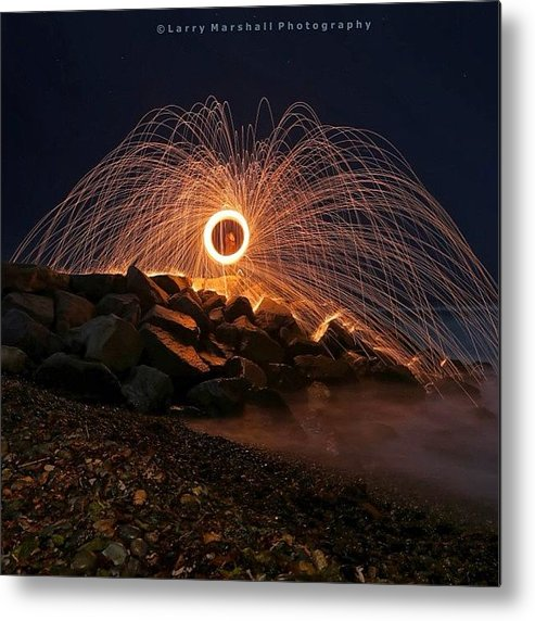 Metal Print featuring the photograph This Is A Shot Of Me Spinning Burning by Larry Marshall