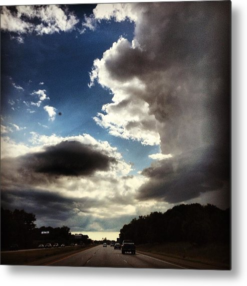 Landscape Metal Print featuring the photograph Thunder Clouds by Christy Beckwith