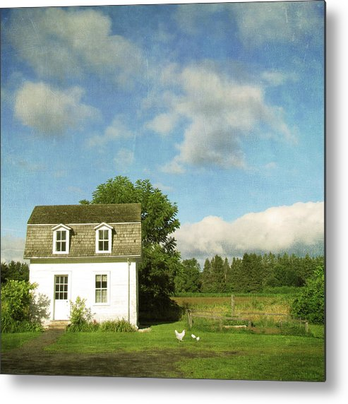 Tranquility Metal Print featuring the photograph Tiny Country House by Francois Dion