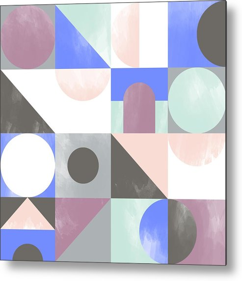 Pattern Metal Print featuring the painting Toy Blocks by Laurence Lavallee