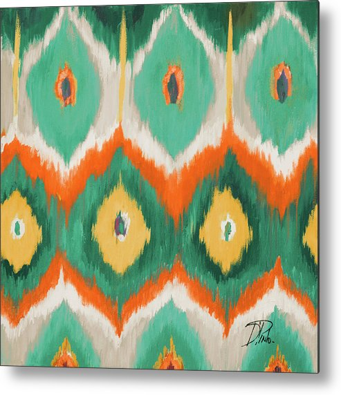 Tropical Metal Print featuring the painting Tropical Ikat II by Patricia Pinto