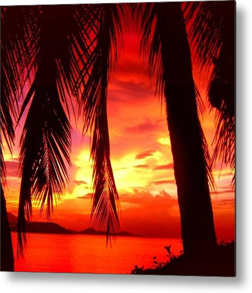 Iclandscapes Metal Print featuring the photograph Tropical Sunset - Thailand by Luisa Azzolini