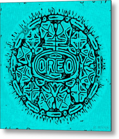 Oreo Metal Print featuring the photograph Turquoise Oreo by Rob Hans