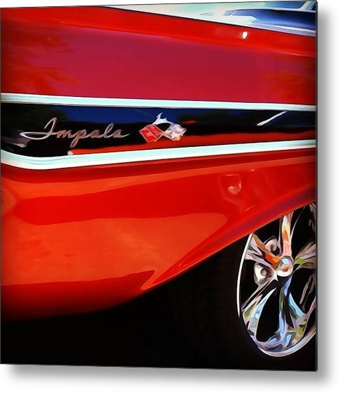 Classic Car Metal Print featuring the photograph Vintage Impala by Heidi Hermes