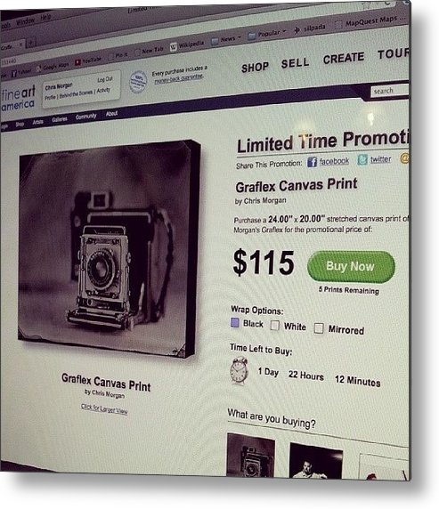 Tintype Metal Print featuring the photograph Want A Cool Christmas Present?? How by Chris Morgan