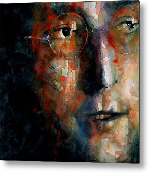 John Lennon Metal Print featuring the painting Watching the Wheels by Paul Lovering