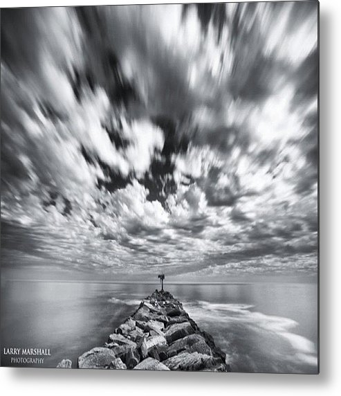 Metal Print featuring the photograph We Have Had Lots Of High Clouds And by Larry Marshall