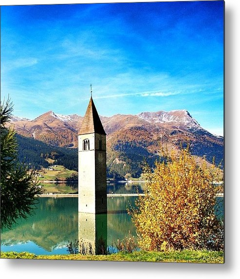 Outdoor Metal Print featuring the photograph Lago Di Resia - Alto Adige. reshen by Luisa Azzolini