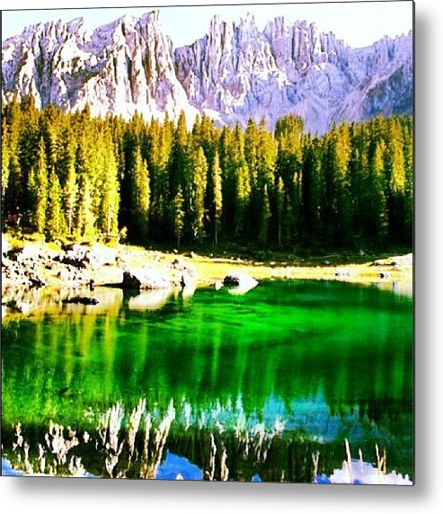 Alps Metal Print featuring the photograph Reflection by Luisa Azzolini