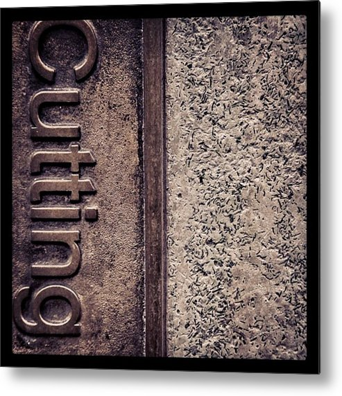 Abstract Metal Print featuring the photograph #texture #abstract #manchester by Ritchie Garrod