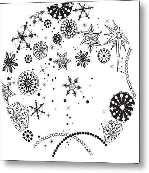 Square Metal Print featuring the digital art Various Plants Patterns by Eastnine Inc.