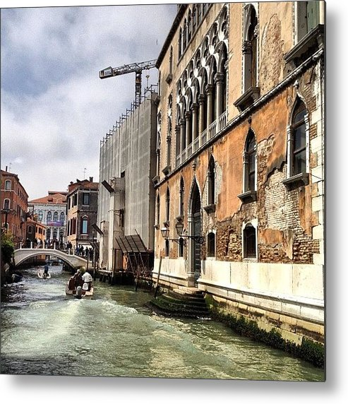 Venice Metal Print featuring the photograph Venice Italy by Irina Moskalev