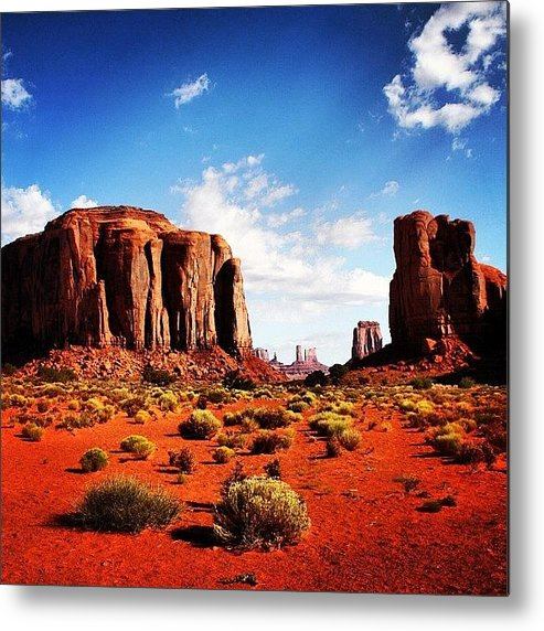Beautiful Metal Print featuring the photograph Monument Valley by Luisa Azzolini