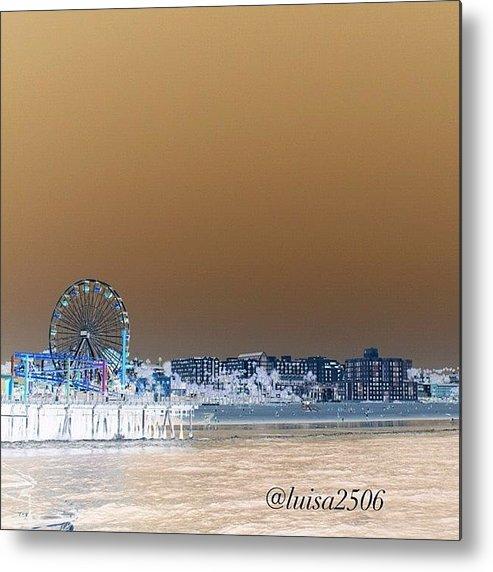 Beautiful Metal Print featuring the photograph Santa Monica by Luisa Azzolini