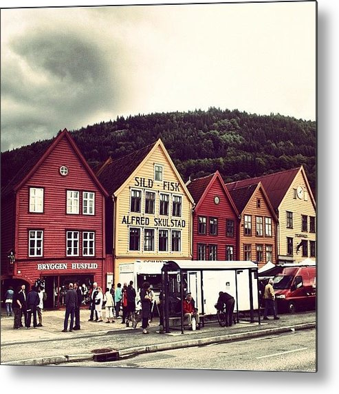 Beautiful Metal Print featuring the photograph Bergen by Luisa Azzolini