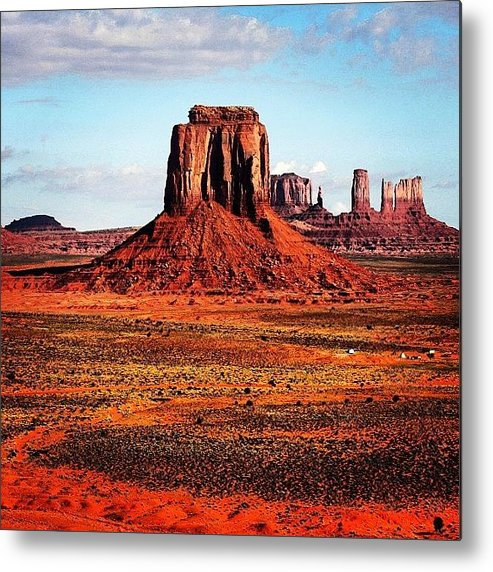 Monumentvalley Metal Print featuring the photograph Monument Valley by Luisa Azzolini