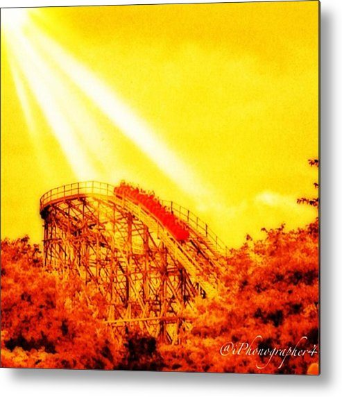 Mobilephotography Metal Print featuring the photograph #amazing Shot Of A #rollercoaster At by Pete Michaud