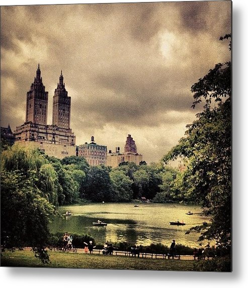 Summer Metal Print featuring the photograph Cloudy Central Park. #nyc #centralpark by Luke Kingma