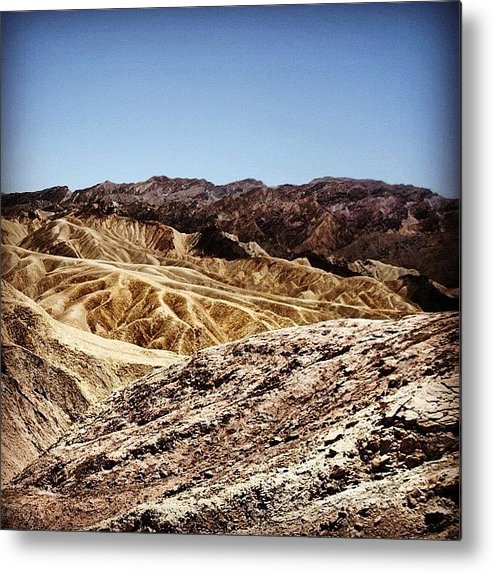 Usa Metal Print featuring the photograph Death Valley by Luisa Azzolini