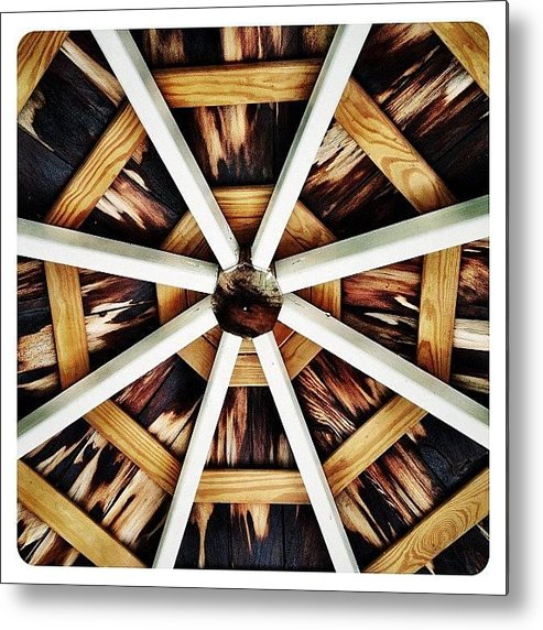 Symmetry Metal Print featuring the photograph Gazebo by Natasha Marco