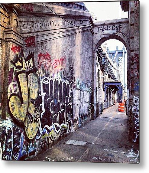 Summer Metal Print featuring the photograph Graffiti Bridge by Randy Lemoine
