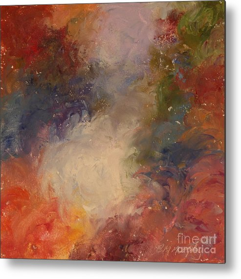 Angel Metal Print featuring the painting In the Beginning by Colleen Murphy