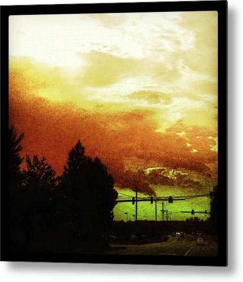 Cloudscape Metal Print featuring the photograph Just Driving by Katie Williams