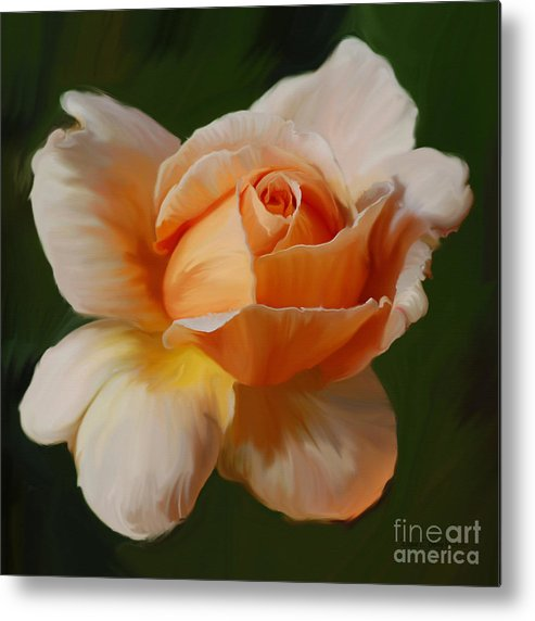 Diane Berry Metal Print featuring the painting Just Joey Bloom by Diane E Berry