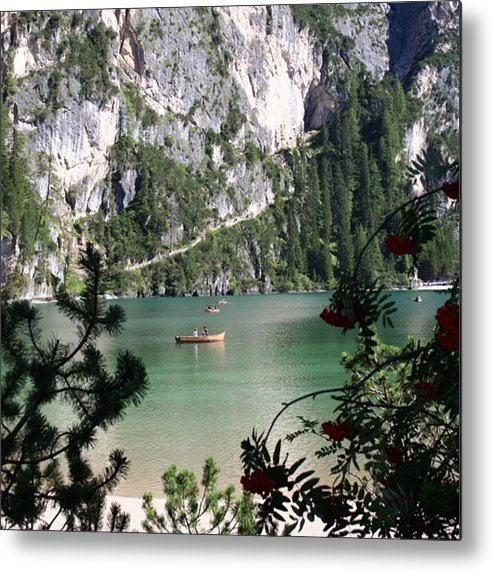 Dolomites Metal Print featuring the photograph Lake of Braies by Luisa Azzolini