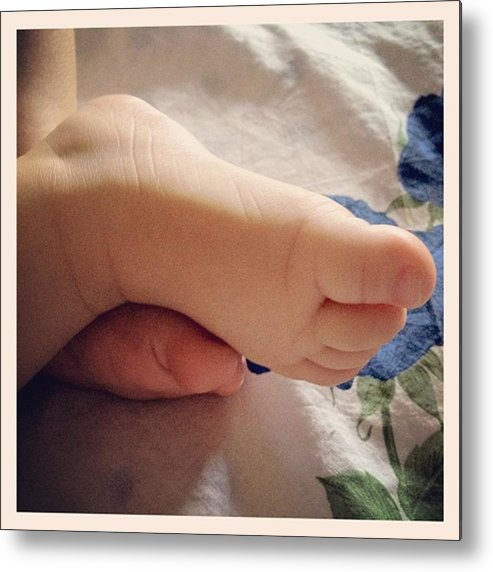 Foot Metal Print featuring the photograph Little foot by Luisa Azzolini