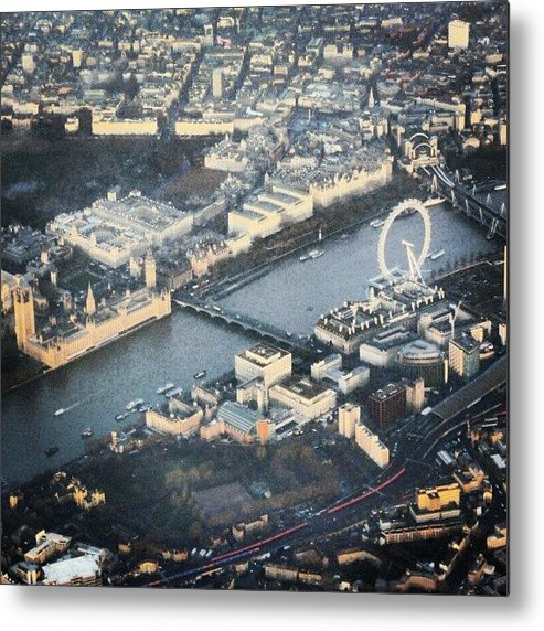 Picture Metal Print featuring the photograph #londoneye #bigben #thetimes #river by Abdelrahman Alawwad
