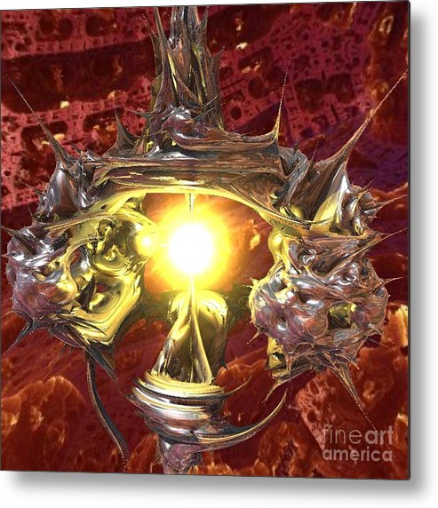 Planet Metal Print featuring the digital art Out of Darkness by Vicki Lynn Sodora