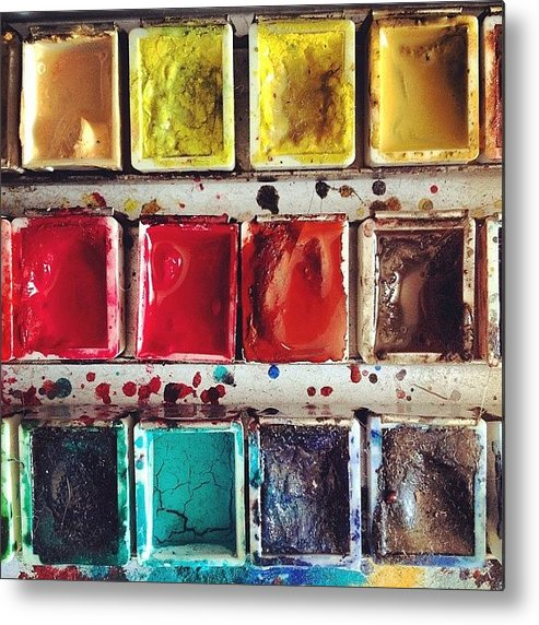 Paint Metal Print featuring the photograph Paintbox by Nic Squirrell
