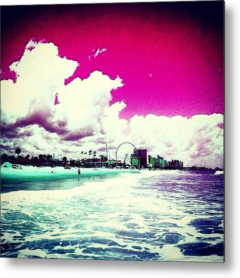 Beautiful Metal Print featuring the photograph Pic Redo #beach #summer #prettycolors by Katie Williams